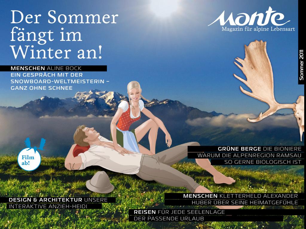 MONTE iPad-Magazin mit Reportagen und  Reise-, Hoteltipps. Mit Anziehguide für Outdoor-Bekleidung.