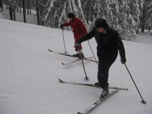 Beim Nostalgie-Skifahren gibt es keinen Lift