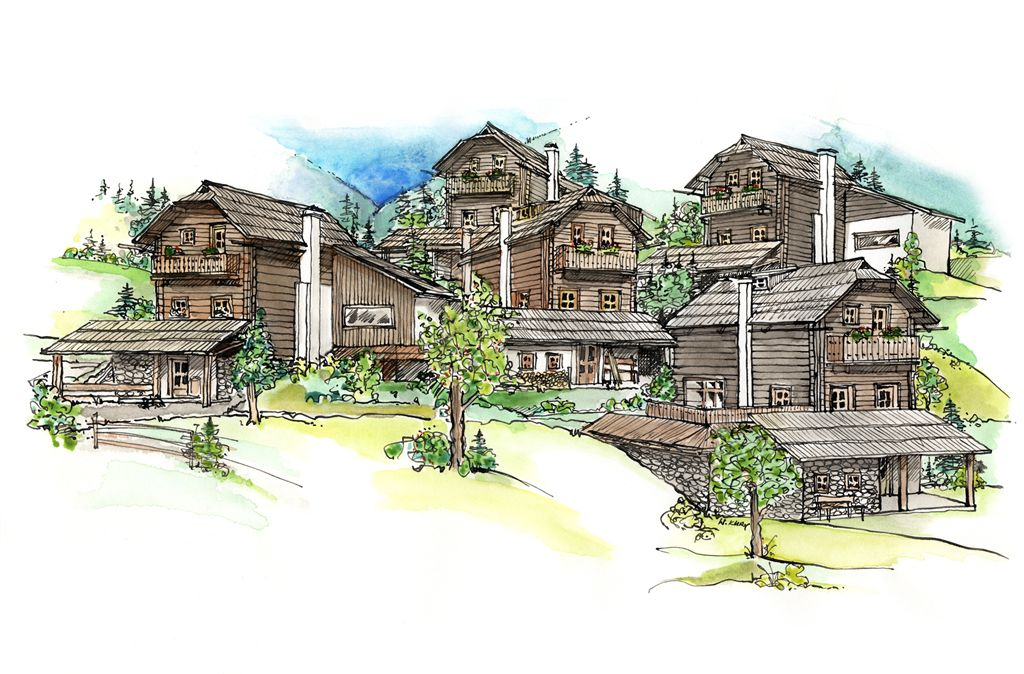 Das Almdorf Seinerzeit bei Bad Kleinkirchheim bekommt 31 neue Hütten und Chalets sowie ein Gutshof